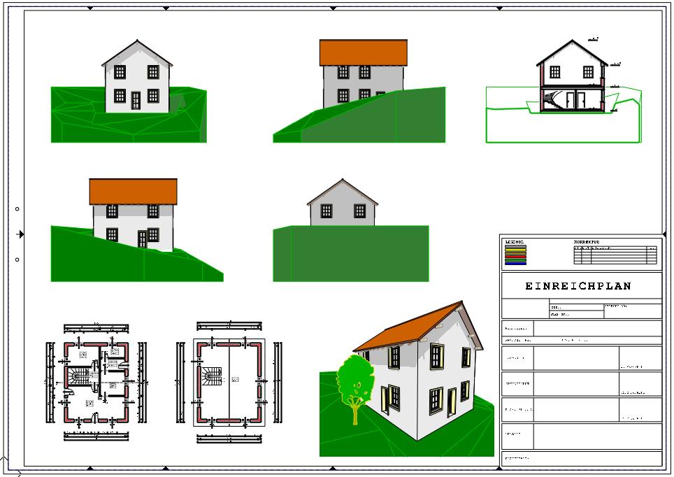 erste schritte konstruktion eines einfachen geb udes bringen sie das haus zu papier planlayout. Black Bedroom Furniture Sets. Home Design Ideas