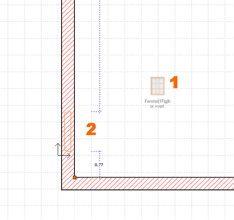 erste schritte konstruktion eines einfachen geb udes fenster. Black Bedroom Furniture Sets. Home Design Ideas