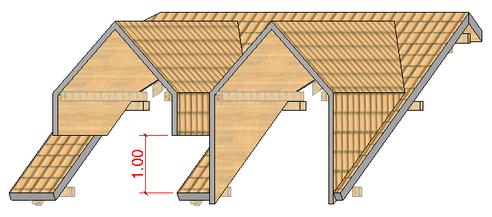 architektonische elemente dach dach platzieren individuelles dach mit profil gaubendach. Black Bedroom Furniture Sets. Home Design Ideas